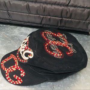 Dolce & Gabbana Accessories - D&G Dolce & Gabbana Rhinestone Cap - Cadet Hat